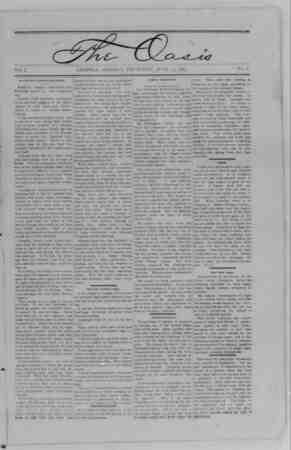 The Oasis Gazetesi 29 Haziran 1893 kapağı