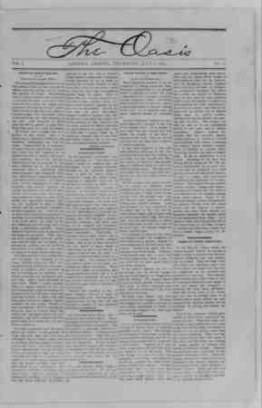 The Oasis Gazetesi 6 Temmuz 1893 kapağı