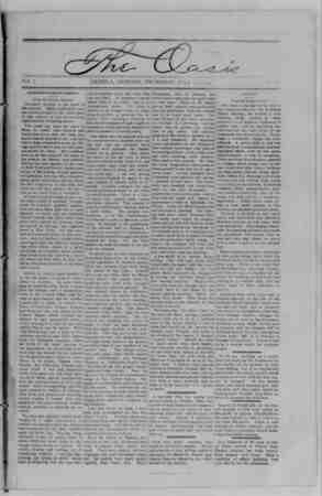 The Oasis Gazetesi 13 Temmuz 1893 kapağı