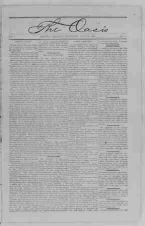 The Oasis Gazetesi 27 Temmuz 1893 kapağı