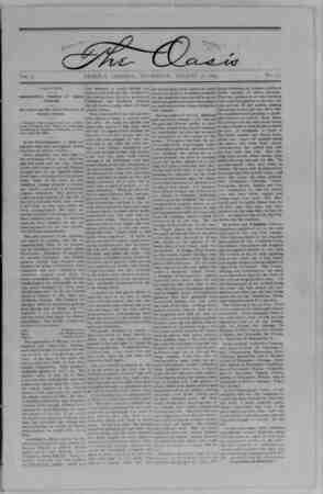 The Oasis Gazetesi 31 Ağustos 1893 kapağı