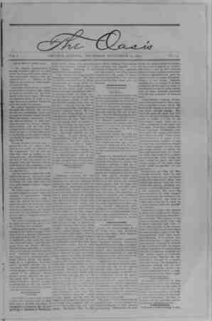 The Oasis Gazetesi 14 Eylül 1893 kapağı