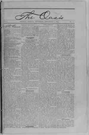 The Oasis Gazetesi 21 Eylül 1893 kapağı
