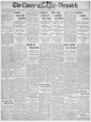 The Times Dispatch Gazetesi 28 Ocak 1903 kapağı