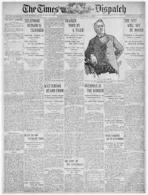 The Times Dispatch Gazetesi 30 Ocak 1903 kapağı
