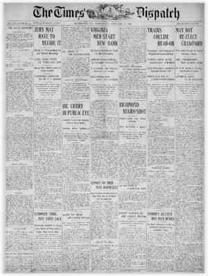 The Times Dispatch Gazetesi 31 Ocak 1903 kapağı