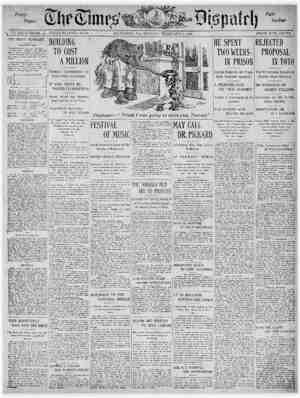 The Times Dispatch Gazetesi 1 Şubat 1903 kapağı