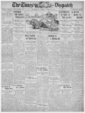 The Times Dispatch Gazetesi 3 Şubat 1903 kapağı