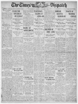 The Times Dispatch Gazetesi 6 Şubat 1903 kapağı