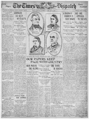 The Times Dispatch Gazetesi 8 Şubat 1903 kapağı