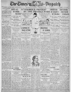 The Times Dispatch Gazetesi 12 Şubat 1903 kapağı