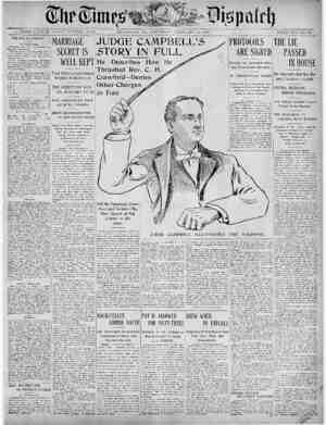 The Times Dispatch Gazetesi 14 Şubat 1903 kapağı