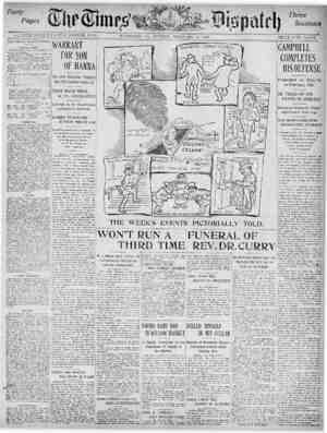 The Times Dispatch Gazetesi 15 Şubat 1903 kapağı