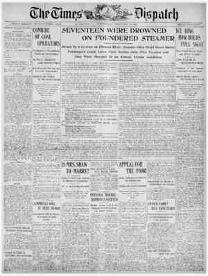 The Times Dispatch Gazetesi 18 Şubat 1903 kapağı