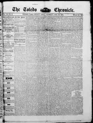 The Toledo chronicle Gazetesi 20 Şubat 1873 kapağı