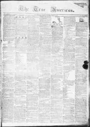 True American Gazetesi March 28, 1837 kapağı