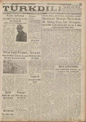 GĞT SAYI: 4266 MENEEEREEKENEEAAREK AOUN RCR 30 TEMMUZ. 1934 Pozartcsi GAT T AAA Dokuzuncu Sone AMAD TÜRKDLİ!...
