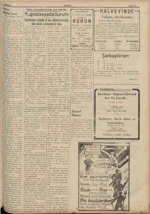 "Hal)a Mpüdafuası d'""r m' Olloyde  gazetesi l - 9 İluıwıın 1935 tarihia Bdi ""Şvekil Gömbüş a Tünina tara- meclis mobu- iva"