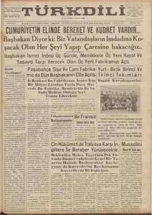 Türk Dili sayfa 1