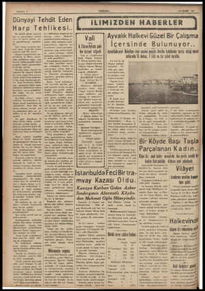 SAYFA: 2 Dünyayi Tehdit Eden Harp Te Bu günkü günde iInsanlık için en ehemmiyetli mesele | yeni bir harbın önüne na sıl...