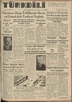 N AAA AA D AA DNDDS SA OA DD AARDALEEDĞA Kü TÜRKDİLİ - 3 HAZİRAN PERŞEMBE 1937 Dört Gündenberi Ankarada Bulun- makta Olan...