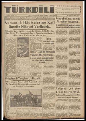 """-- A M 4 K KMN M Kai aa e n eel 12 EYLÜL PAZAR 1937 —. GÜNDELİRK SIY.A.SAL GAZETE Akdenız Konferansında lngıltere Fransa, Turkıye Sovyetler Birliği, Vugoslavya Romr Manya, Yunanıstan BulgarıstwwdapılanGorugmeler Rusya """"e Çin AraSInda Kors anlık Hâdiselerine Kati Aktedilen Anlaşma.. .-. A Teij —- .' ON İKİNCİ YIL SAYI: 10279 3 Baş sene müddetle merivette kalacak olar bu anlaşmava Üü ddi Yü b ÜĞHS n"""