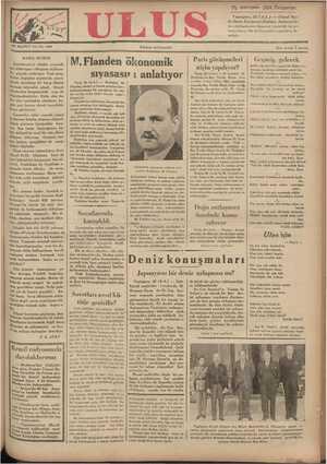 Ulus Gazetesi 29 Kasım 1934 kapağı