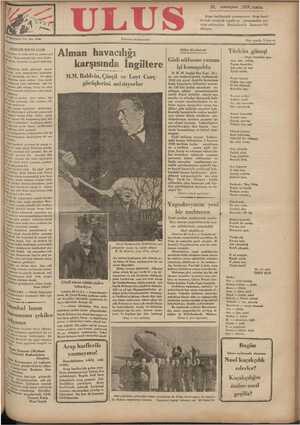 Ulus Gazetesi 30 Kasım 1934 kapağı