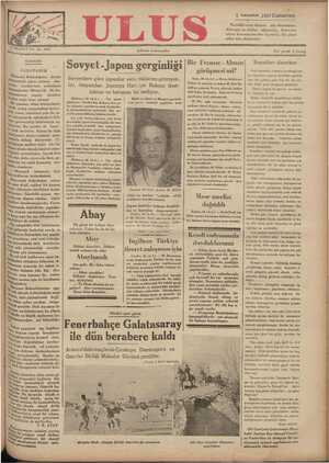 Ulus Gazetesi 1 Aralık 1934 kapağı
