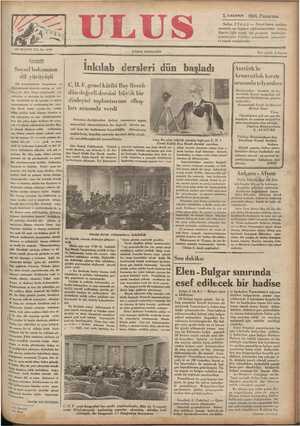 Ulus Gazetesi 3 Aralık 1934 kapağı