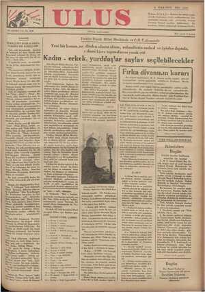 Ulus Gazetesi 4 Aralık 1934 kapağı