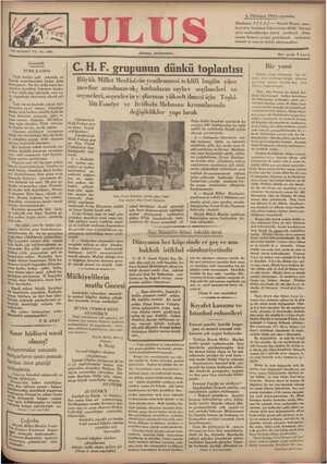 Ulus Gazetesi 5 Aralık 1934 kapağı