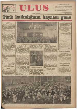 Ulus Gazetesi 7 Aralık 1934 kapağı