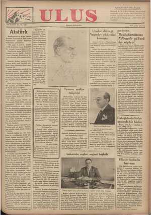 Ulus Gazetesi 9 Aralık 1934 kapağı