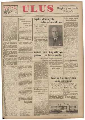 Ulus Gazetesi 10 Aralık 1934 kapağı