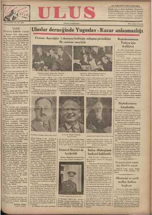 Ulus Gazetesi 12 Aralık 1934 kapağı