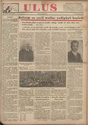 Ulus Gazetesi 13 Aralık 1934 kapağı