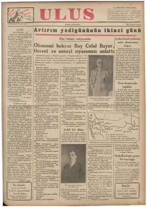Ulus Gazetesi 14 Aralık 1934 kapağı