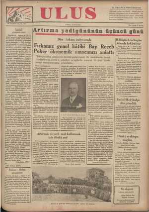 Ulus Gazetesi 15 Aralık 1934 kapağı