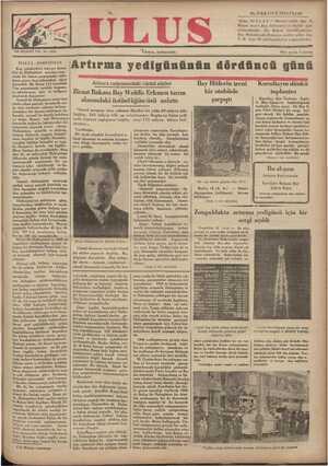 Ulus Gazetesi 16 Aralık 1934 kapağı