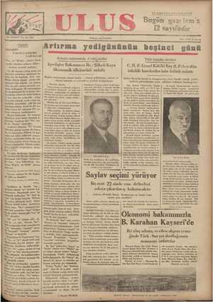 Ulus Gazetesi 17 Aralık 1934 kapağı