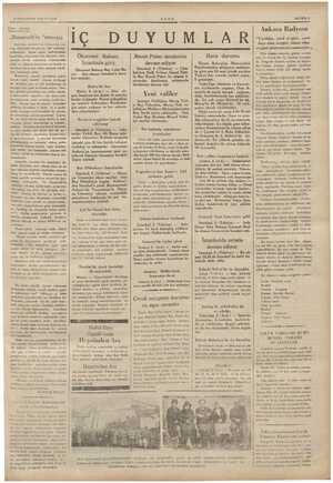 """Yarı - sıyası «Roosevelt'in """"messaj,ı Amevika cuu a Koosevelt, yalı başı dolayısile ko: 'e bir cmessaj» yollamıştır.. Bunu"""