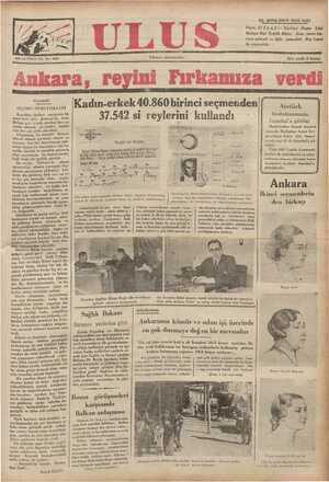 22, SONKÂNUN 1935 SALI Paris, 21 (A.A.) — Türkiye Dışarı İşler Bakanı Bay Tevfik Rüştü — Aras, yarın bu- raya gelecek ve öğle
