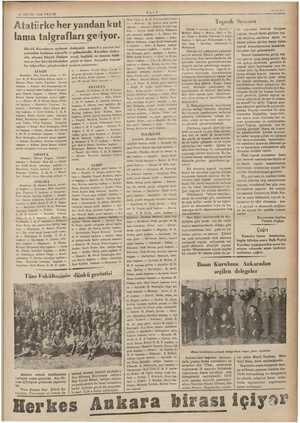 I2 MAYIS 1935 PAIAR Atatürke her yandan kut |: lama talgrafları ge'iyor. Büyük Kurultayın açılması yanından kutlamu telgrafla