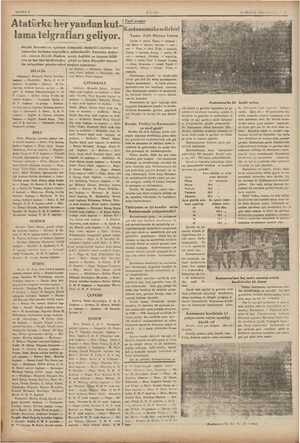 . SAYIFA « ULUS 13 MAYIS 1935 PAZA Si Atatürkeher yandan kut- lama telgrafları geliyor. Büyük Kurultayın açılması...