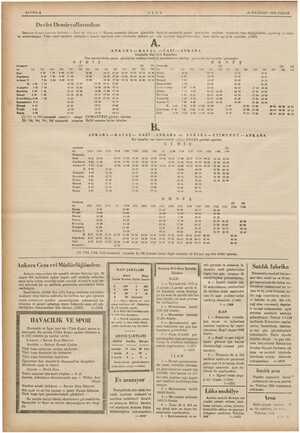 — 16 HAZİRAN 1935 PAZAR ——— ——— —— ——R—————— SAYIFA 6 Devlet Demiryollarından: Görülen lüzum üzerine Ankara — Gazi ve Ankara
