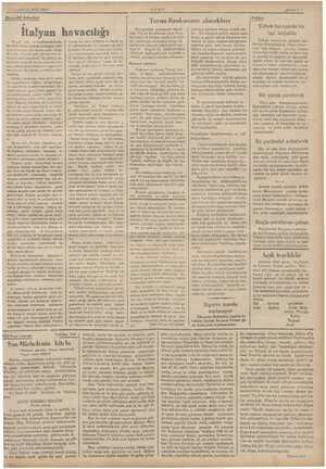 18 TLMMUZ 1835 SALI BHavacılık haberleri İtalyan havacılığı Buyuk yazı ve konferanslarımda, Üzerinde öncm vererek durduğum