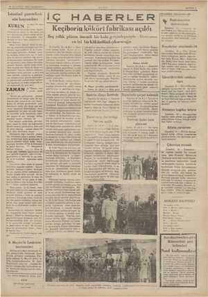 26 AĞUSTOS 1935 PAZARTESİ İstanbul gazeteleri- nin lıaş vazıları KURUN da Asımı Us diyor ııl:ı baytar Samuel wi var. Bu...