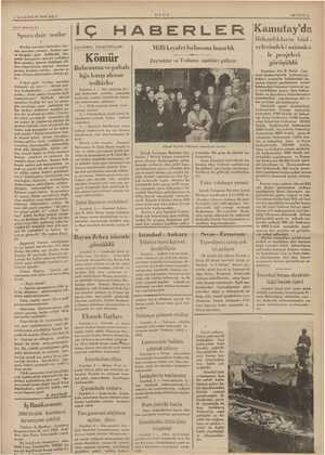 ği nik ERE 3 ILKKANUN 1935 SALI Spor işlerimizi a dair notlar Spor ( Herkei ar bahseder, her- Res spordan yanadır, herkes...