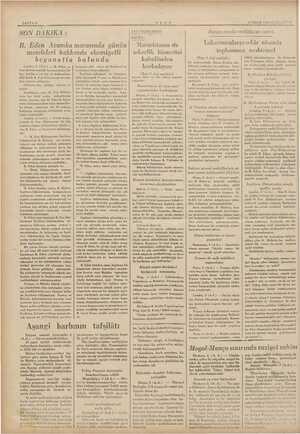 SAYFA 6 B. Eden Avamka marasında günün meseleleri hakkında ehemiyetli la bulundu Londra, 3 (A.A.) — B. a- vam kamarasındaki